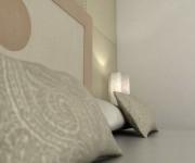 rendering 3d - interno camera albergo - Otranto