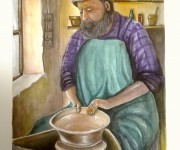 ceramista - acquerello