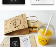 Vinthiages Café Branding Business Card and Wall Menu