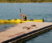 Canotaggio nel laghetto