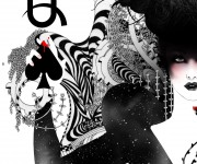 The Queen of spades by Noumeda (detail)