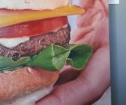 Detail hamburger 3D.