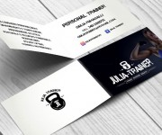 Personal trainer Giulia Fumagalli foldable business card