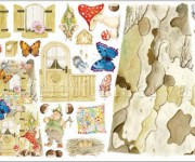 carta per decoupage con folletti