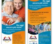 Flyer Cooperativa Rinascita, Campagna assistenza anziani