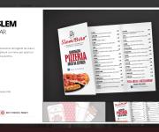 Slem Bar,Menu pizze e Biglietti da Visita