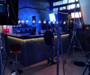 set lounge bar nello studio Lounge