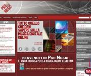 sito web Pro Music