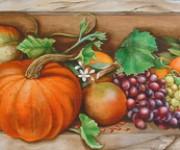 Frutta d'autunno in una nicchia