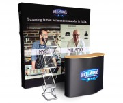 pop up tessile e desk pop up HELLMANS