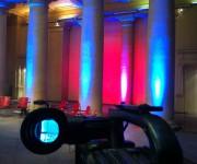 trasmissione TV c/o Tempio di Traiano Roma
