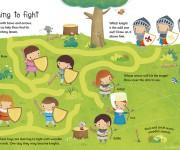 USBORNE - Castle Wipe Clean - learning to fight - Dania Florino