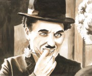 Chaplin acquerello per Leo