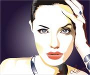 ritratto Angelina Jolie