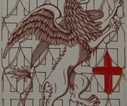 Grifone - Incisione a bulino colorato ad acquerello