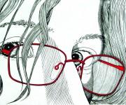 Valerio con occhiali rossi