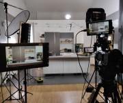 Set cucina per live show in diretta streaming nello studio Yori