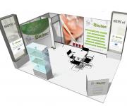 stand fiera Biotec rendering