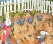 conigli nell'orto