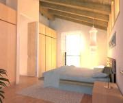vista di progetto della camera padronale