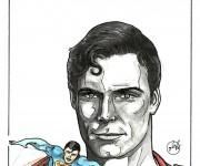 omaggio a Superman - tecnica: china