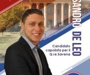 Volantino Alessandro De Leo, Candidato al quartiere Savena, Bologna