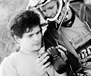 Morris con il Campione mondiale enduro 2014 Giacomo Redondi