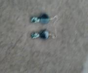 orecchini perle verde acqua
