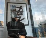 La passione per l'arte - vetrina in Chelsea