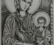 Maternita' del Cimabue - Incisione Calcografica a bulino