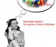 Bracciale elastico con perle in Vetro di Murano