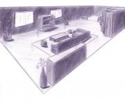 sketch - salotto 2