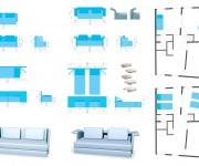 Divano rendering e mappe