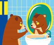 Teddy si lava i denti