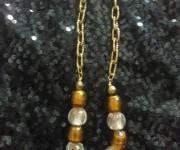 catena per pantaloni ambra-bianco