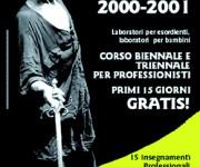 Manifesto Corsi di teatro 2001