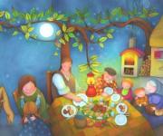 cena sull'aia