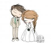 ritratto fumettistico per partecipazioni di nozze