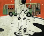 UNO SPICCHIO GIALLO LIMONE illustrazione rivista Linus