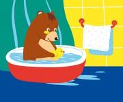Teddy fa il bagno