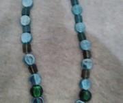 collana vetro indiano blu-verde