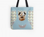 Borsa con stampa: Yorkshire Terrier