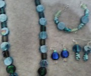 set vetro indiano blu-verde