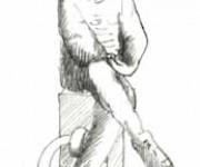 GENOVA - Colombo giovinetto - schizzo