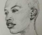 La fossetta - Chin with dimple, beautiful black&white inspiring