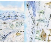 carta da decoupage neve