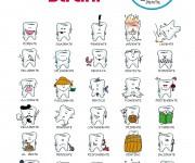 poster illustrato per studi dentistici