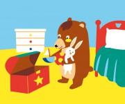 Teddy metta a posto i suoi giocattoli