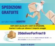 Promo Agosto 2019 - Spedizioni gratuite