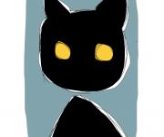 gatto nero - ideAZIONIvettoriali